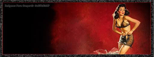 Cabecera para facebook fondo rojo | Chica sexi | Pin Up