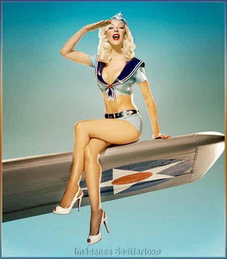 Vintage Pin-Up de Christina Aguilera | Marinera