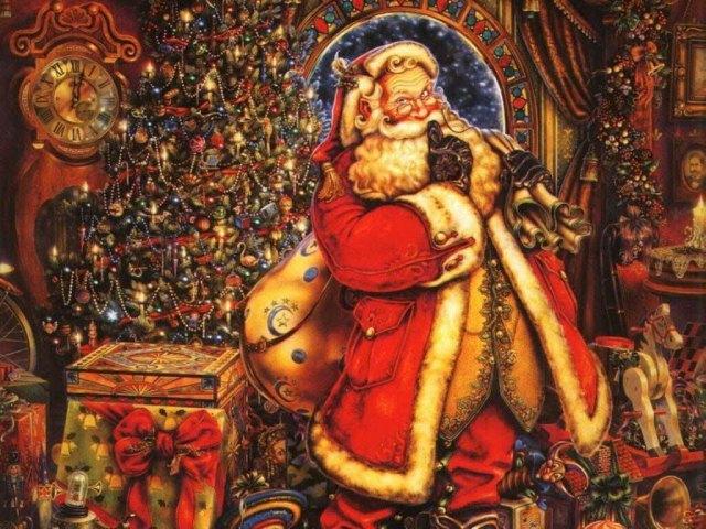 Chritmas Vintage Santa Claus Clasico