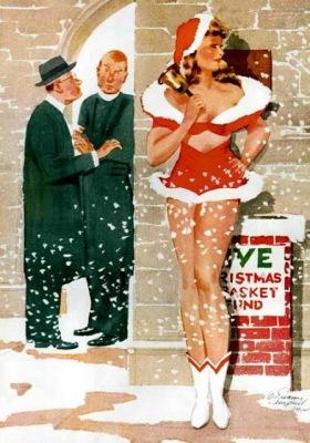 Imagen navideña pin up de E. Simms Campbell