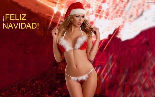 Felicitación de navidad chica sexi