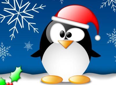 Fondo de pantalla Tux Navidad
