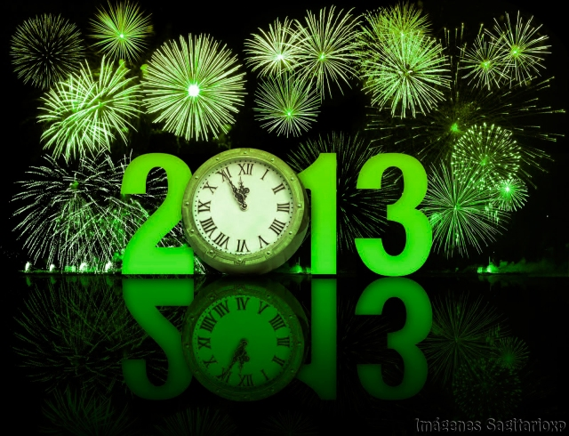 Fondo de pantalla: Feliz año 2013 - Azul oscuro