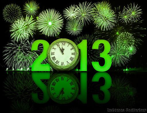 Fondo de pantalla: Feliz año 2013 - Verde