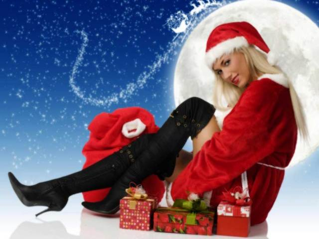 Wallpaper Santa Claus Sexi Girl