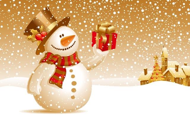 Muñeco de Nieve con Regalo