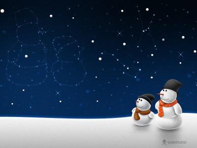 Wallpaper - hombre de nieve - Fondo de pantalla