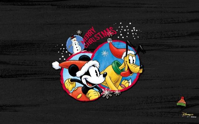 Fondo de Pantalla de Navidad. Mickey y Pluto Snow - Wallpaper