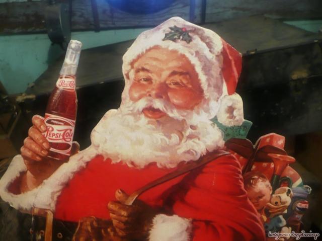 Wallpaper vintage | Anuncio de Pepsi de Navidad | Santa Cláus