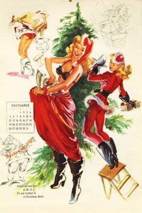 Imagen navideña pin-up de T.N Thompson