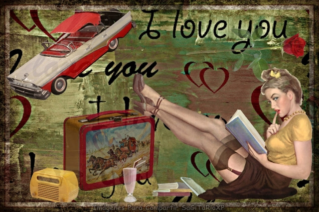 Fondo de pantalla estilo pin up con mensaje de amor !