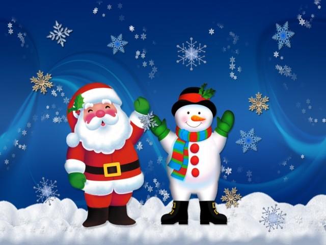 Santa y Snowman