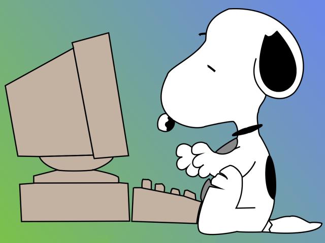 Wallpaper Snoopy con ordenador