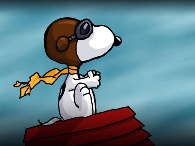Wallpaper Snoopy Aviador