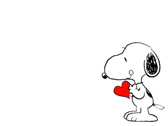 Wallpaper Snoopy con corazon