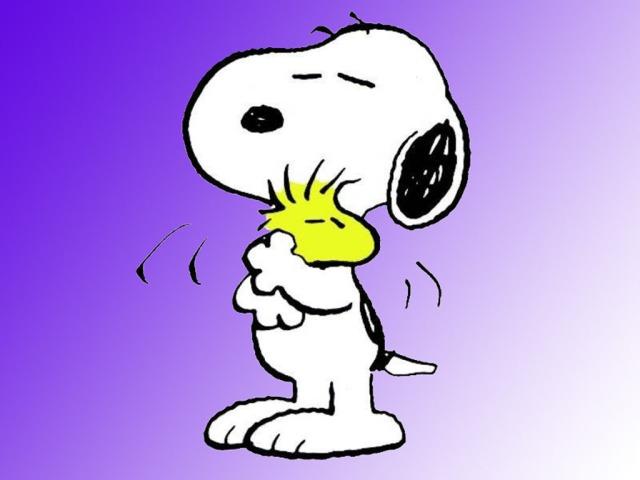 Wallpaper Snoopy abrazando a Emilio