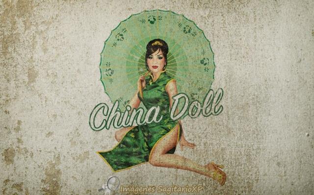 Fondo de pantalla Pin-Up: China Doll | Vintage | Wallpaper