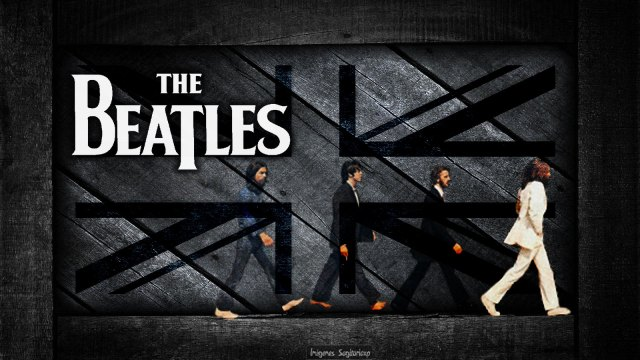 The Beatles, Grunge, Wallpaper, flag, Road Abbey,