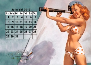 Calendario pin up 2013: Julio | Gil Elvgren