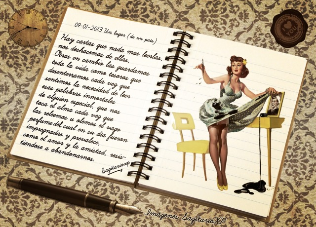 I Love Pin-Up - Carta de amor vintage