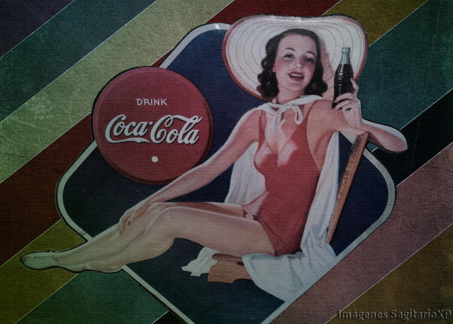 Wallpaper |Coca-Cola retro vintage | Chica Pin Up