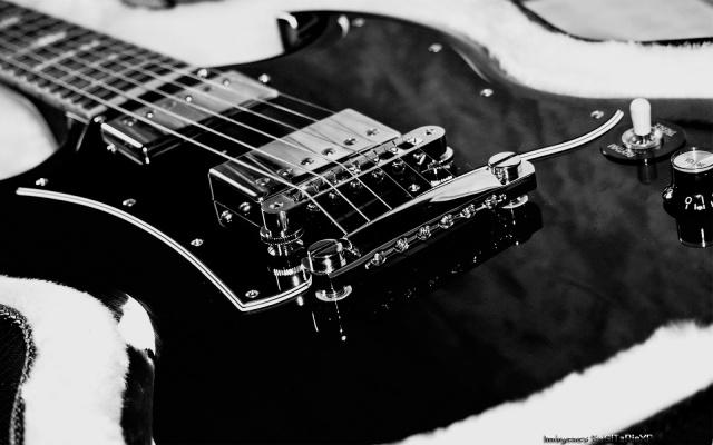 Guitarra eléctrica negra fondos de pantalla
