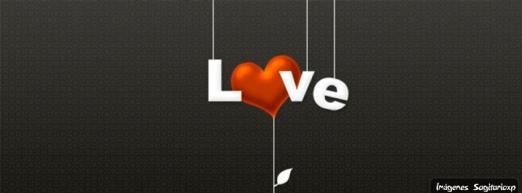 Portada para facebook, amor y corazón