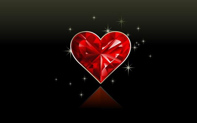 Love Corazón Rojo Wallpaper