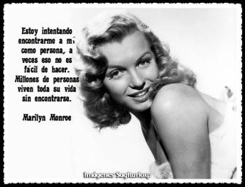 Fotografía de Marilyn Monroe con texto para pin