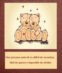 Una persona como tú, Ositos abrazandose
