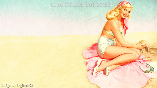 Chica Pin-Up: fondo de escritorio | Wallpaper