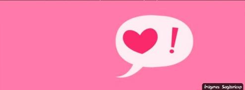 Fondo rosa con corazon | Portada de amor para facebook