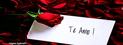 Te amo, Rosa, Carta, Pétalos de rosa | Portada para facebook