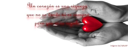 Corazón rojo, Un corazón es, portada para fecabook