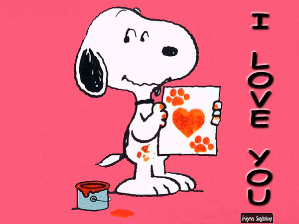 Snoopy, I love you, Wallpaper